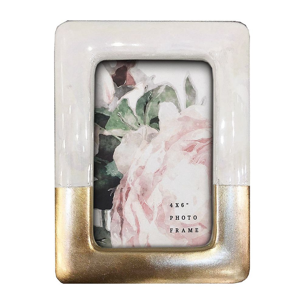 """New View Gifts 4""""x 6"""" Gold Metallic Dipped Frame"""
