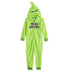 Boys 4-10 Grinch Fleece Union Suit