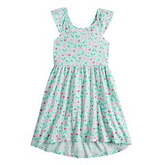 0bbc76ef63a640 Girls 4-12 Jumping Beans® Print Skater Dress. Pineapple Navy Sweetheart Pink  Flower White ...