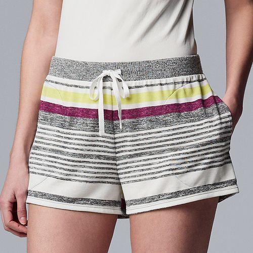 Women's Simply Vera Vera Wang Marled Pajama Boxer Shorts