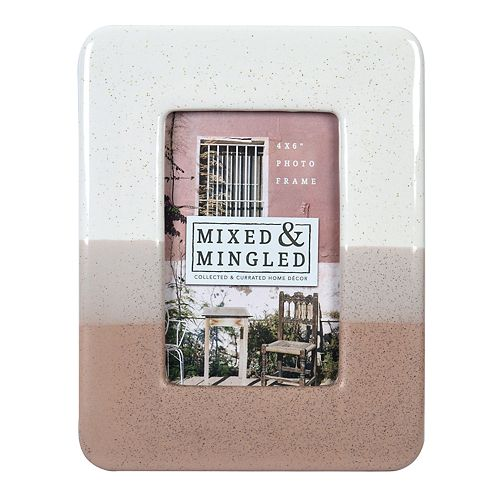 """New View Gifts 4"""" x 6"""" Gray, White & Pink Frame"""