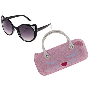 Girls Elli by Capelli Cat Sunglasses with Case