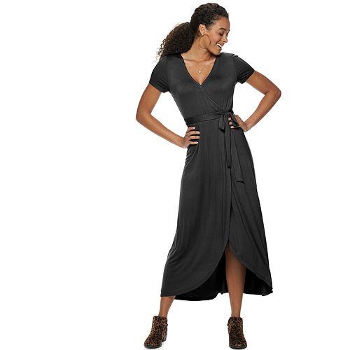 d4e776a0e4e67 Juniors  SO® Faux Wrap Maxi Dress