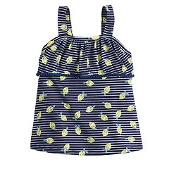 Toddler Girl Jumping Beans® Floral Pom-Trim Tank Top