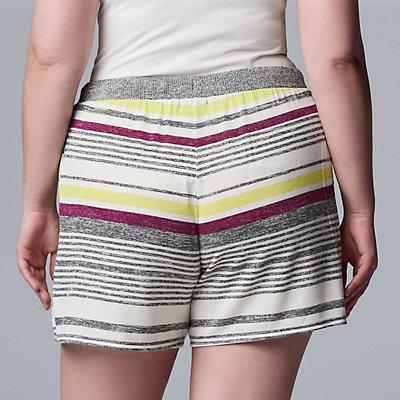 Plus Size Simply Vera Vera Wang Marled Pajama Boxer Shorts