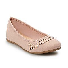 SO® Sunhats Girls' Ballet Flats
