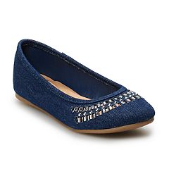 SO® Sunhats Girls' Ballet Flats