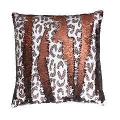 Thro by Marlo Lorenz Cenny Cheetah Copper on Copper Throw Pillow