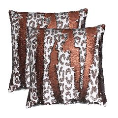 Thro by Marlo Lorenz 2-Pack Cenny Cheetah Copper on Copper Throw Pillow