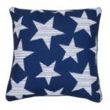 Thro by Marlo Lorenz Navy and White Star Spangled Throw Pillow