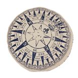 Thro by Marlo Lorenz Round Natural Compass Kids Throw Pillow