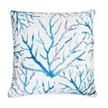 Thro by Marlo Lorenz Blue and Purple Tygna Coral Throw Pillow