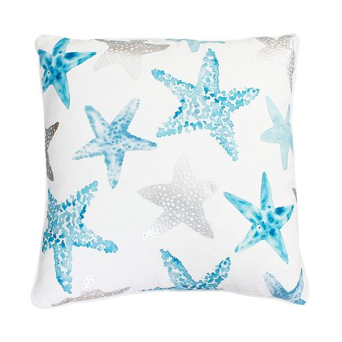 Thro by Marlo Lorenz Blue and Purple Todrina Star Fish Throw Pillow
