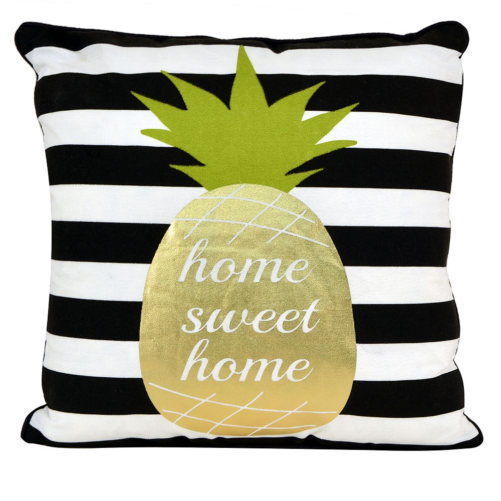 Thro by Marlo Lorenz Good Vibes Pineapple Throw Pillow