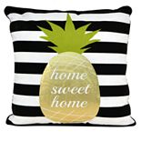 Thro by Marlo Lorenz Good Vibes Pineapple Throw Pillow