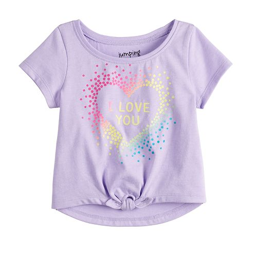 Baby Girl Jumping Beans® Knotted Graphic Tee