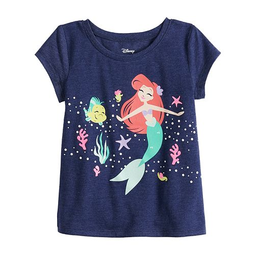 Disney's The Little Mermaid Ariel Baby Girl Graphic Tee by Jumping Beans®