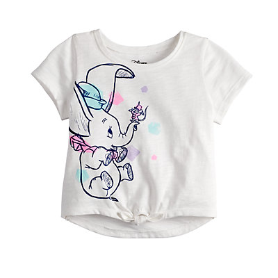 Disney's Dumbo Baby Girl Graphic Knot-Front Tee by Jumping Beans®
