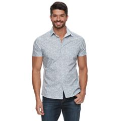 85e28262 Men's Marc Anthony Slim-Fit Patterned Casual Button-Down Shirt