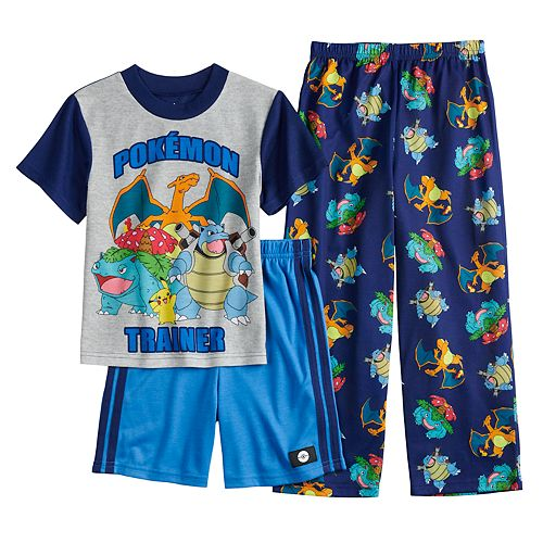 ffce2eda67 Boys 6-12 Pokemon 3-Piece Pajama Set