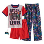 "Boys 6-12 Up-Late Get ""On My Level"" 3-Piece Pajama Set"
