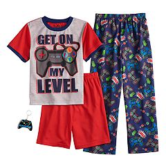 Boys 6-12 Up-Late Get 'On My Level' 3-Piece Pajama Set