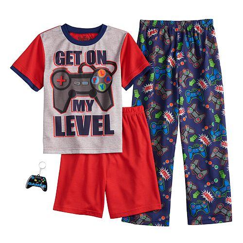 "Boys 6-12 Up-Late Get ""On My Level"" 3-Piece Pajama Set"