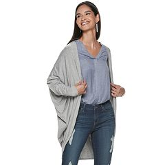 bb28d6f067af0 Women s Jennifer Lopez Cocoon Cardigan. Heather Gray Mineral Black