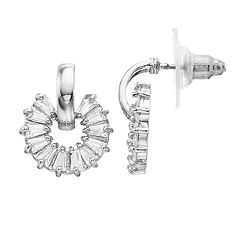 Dana Buchman Cubic Zirconia Doorknocker Post Drop Earrings