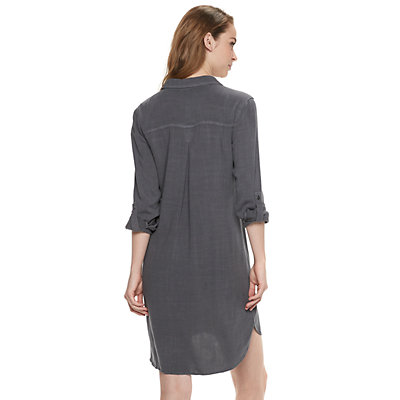 Women's Rock & Republic® Roll-Tab Shirt Dress