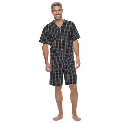 Men's Croft & Barrow® Plaid Woven Pajama Set