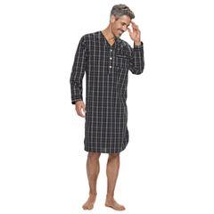 Men's Croft & Barrow® Plaid Woven Night Shirt