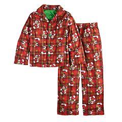 Boys Size 6 Mickey Mouse Christmas 2-Piece Pajama Set
