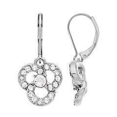 Dana Buchman Swarovski Crystal Flower Motif Drop Earrings