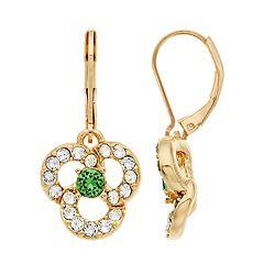 Dana Buchman Swarovski Crystal Flower Motif Drop Earrings