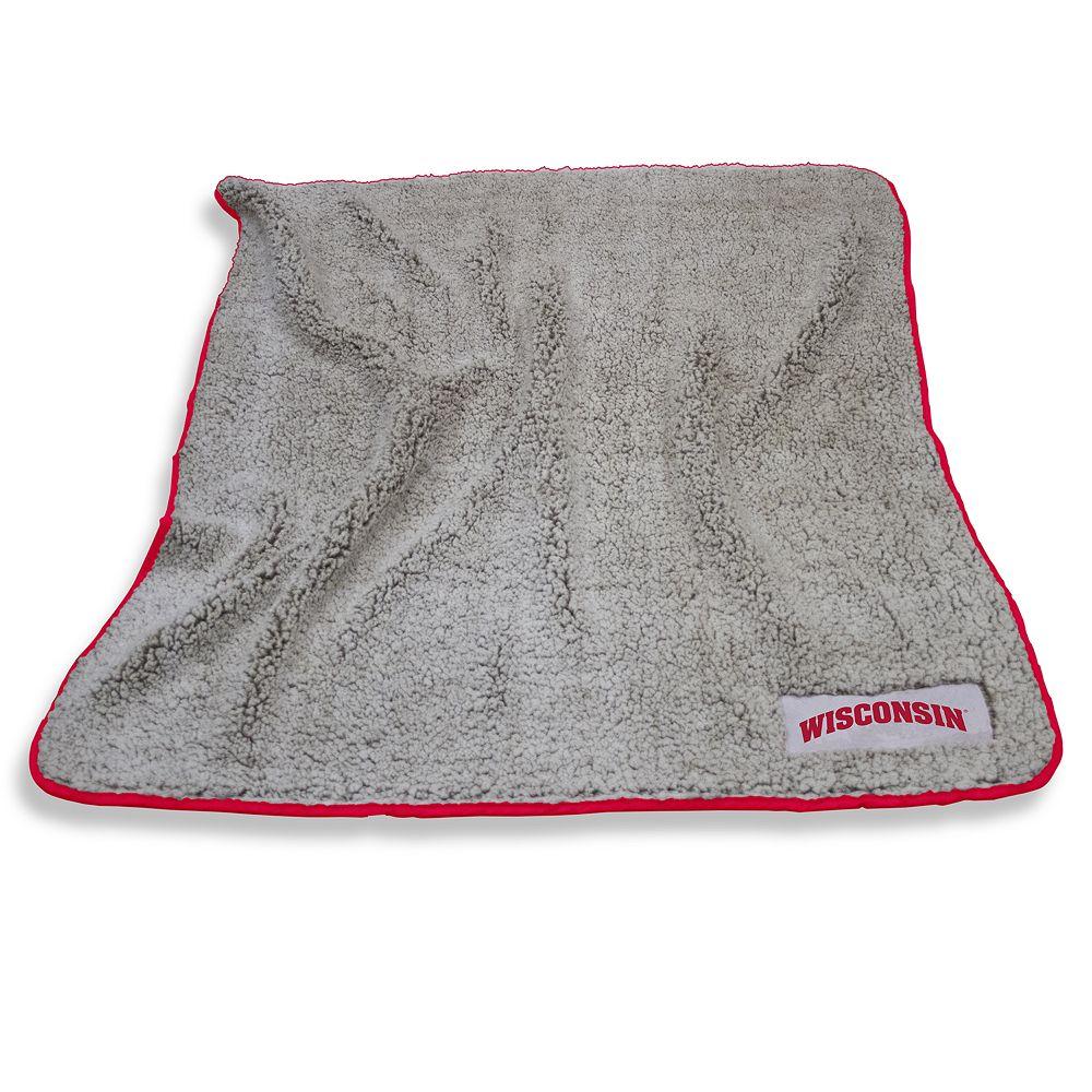 Wisconsin Badgers Frosty Fleece Throw Blanket