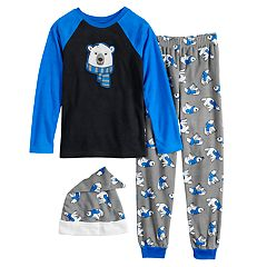 Boys 4-20 Jellifish Pajama Set With Hat