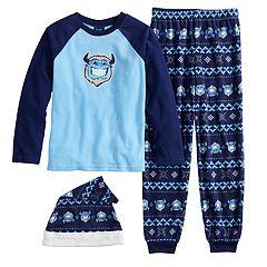 Boys 4-20 Jellifish Pajama Set With Hat