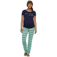 Maternity a:glow Short Sleeve Tee & Pants Pajama Set