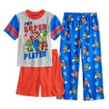 Boys 6-12 Super Mario Bros 3-Piece Pajama Set