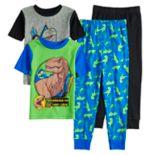 Boys 4-12 Jurassic World Dinosaur 4-Piece Pajama Set