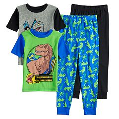 Boys 4-12 Jurassic World Dinosaur 4-Piece Pajama Set