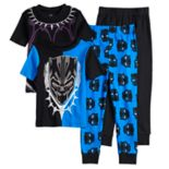 Boys 4-10 Black Panther 4-Piece Pajama Set