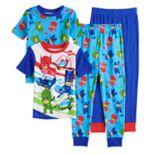 Boys 4-8 PJ Masks 4-Piece Pajama Set