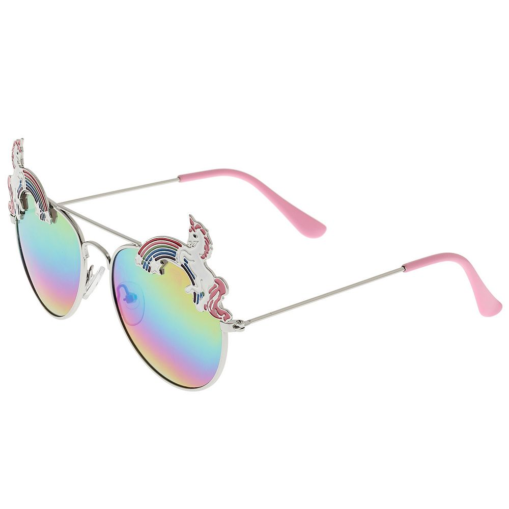Girls Elli by Capelli Unicorn Rainbow Aviator Sunglasses