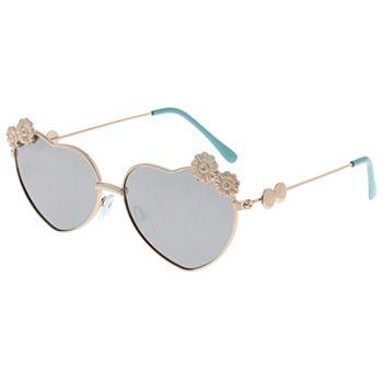 Girls Elli by Capelli Flower & Heart Sunglasses