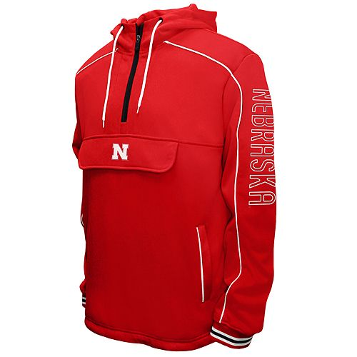 a9e2697721a Men s Franchise Club Nebraska Cornhuskers Edge Anorak Pullover
