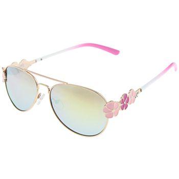 Girls Elli by Capelli Flower Aviator Sunglasses