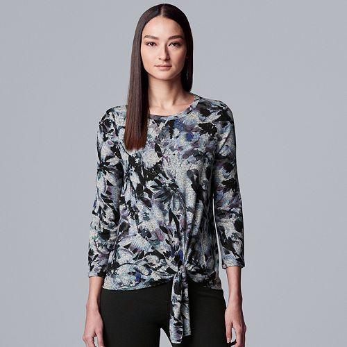 Women's Simply Vera Vera Wang Tie-Front Top