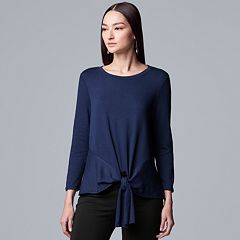 Women's Simply Vera Vera Wang Tie-Front Top